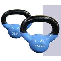 Kettlebbell, Pesa Rusa Forrada Vinil 5 Lbs, Crossfit Gym