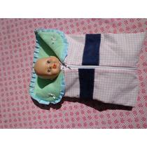 Muñeco Little Mommy Con Portabebé Y Pañalera