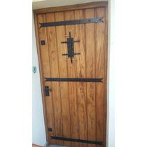Puerta Antigua De Cedro Maciza Con Herrajes 2.05cm. X 1.00cm
