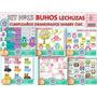 1 Kit Imprimible X 6 Sets Lechuzas Buhos Fondos Papeles Digi