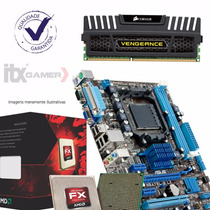 Kit Asus M5a78l-m Lx/br + Amd Fx-6300 + 8gb Gamer Oferta48hs