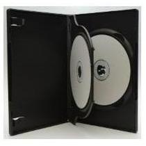 10 Capa Caixa Box Dvd Tripla C/ Bandeja Preta - Transparente
