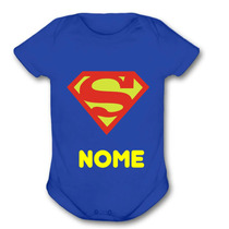 Body Bebe Divertido Menino Superman Super Homem Super Herois