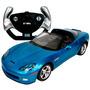 Carrinho Controle Remoto Corvette 7 Funções 1/12 Azul