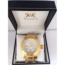 Relógio Masculino Original Atlantis Dourado Frete Grátis