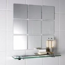 Kit Para Banheiro Espelho Prateleira