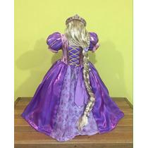 Vestido Rapunzel, Tiara, Y Peluca