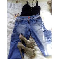 Pantalon Talla 9 Super Strech A La Cintura Limpia De Closet
