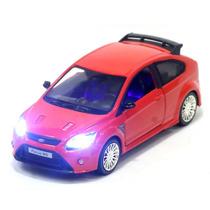 Miniatura Ford Focus Rs 2009 Vermelho Com Luz E Som