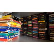 Lote 120 Cartuchos Atari 2600 Todos Originais + Caixas