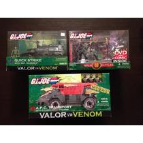 Gi Joe Valor Vs Venom Lote De 3 Vehiculos Misb Sellados Op4