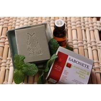 Sabonete Artesanal Esfoliante Com Óleos E Argila Verde