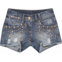 Short Jeans Infantil Tachinhas Marisol