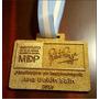 Medalla Llavero Trofeo Grabado Laser En Fibro Color