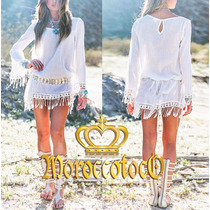 Vestido Blusa Playero Hippie Chic Importado Art.3105