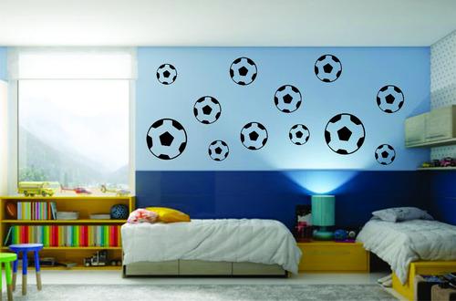 Adesivo Decorativo De Parede Quarto Menino Bola De Futebol - R  25 ... 3c67d02bc05e4