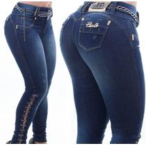 Calça Jeans Pitbull Cinto Corrente Modela Bumbum Ref 22338