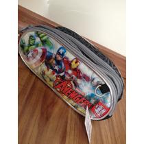 Estojo Homem De Ferro Triplo Infantil Marvel Avengers