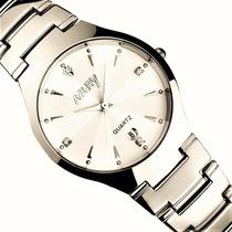 Relógio Feminino Luxuoso Em Aço Inox Lindo Frete Grátis