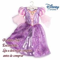 Disney Store Fantasia Vestido Rapunzel Enrolados Encomenda