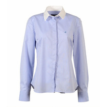 Camisa Brooksfield Mujer Moda Algodón Tramada