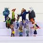 Bonecos Zootopia Kit Com 12 Miniaturas Do Filme