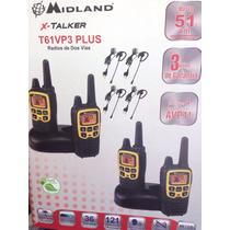 Kit De 4 Radios Midland 51km De 2 Vias Con Manos Libres Vox