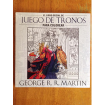 Game Of Thrones Libro Oficial Para Colorear Con 12 Colores