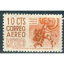 Sc C187 Año 1950 Oaxaca Danza De La Pluma Cuilapam 10c Con