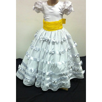 Vestido Infantil Dama/princesa/formatura Branco