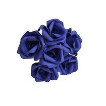 Rosas Artificiais - 24 Flores,flor Artificial Eva Azul Royal