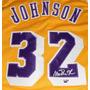 Jersey Autografiado Firmado Magic Johnson Los Angeles Lakers