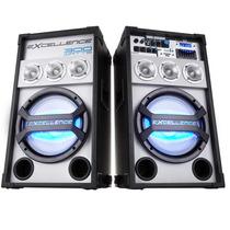 Caixa Amplificada Nks Pk3000 Bt, 2x150w Rms + Microfone