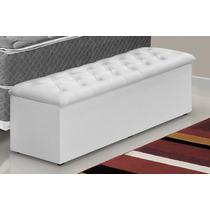 Recamier/calçadeira Baú - Cr P/cama Box 1,40 Larg
