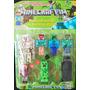 Muñecos Minecraft Articulados Y Accesorios X 7