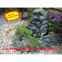 Fuente De Agua Cascada Mediana Con Canteros Para Plantas