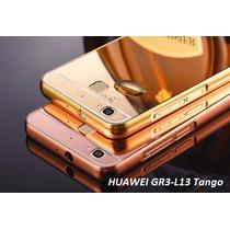 Funda Huawei Gr3 L13 Tango Bumper Espejo + Mica Gratis