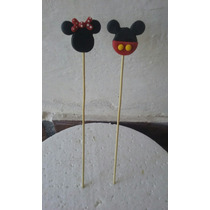Palitos Brochet Souvenirs Mickey-minnie