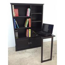 Librero 1, Mueble 2 En 1, Escritorio De Madera, Organizador