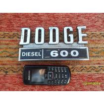 Antigua Insignia Camion Dodge 600 Diesel No Ornamento Mascot