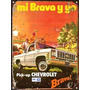 Cartel Chapa Publicidad Antigua Chevrolet Pick Up Brava L289