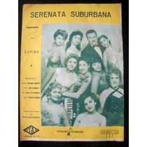 Partitura Antiga Música Serenata Suburbana Acordeon