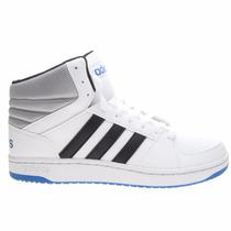 Zapatillas Botitas Adidas Neo Hoops Vs Mid Blanco C/azul