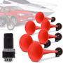 Buzina Ar 6 Cornetas12v Vermelha Eletropneumatica Abs