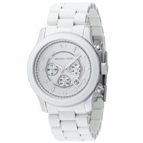 Relógio Luxo Michael Kors Mk8108 Orig Chron Anal White!!!
