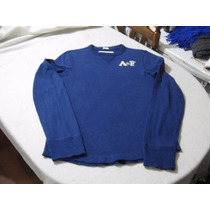 Polera Abercrombie And Fitch Talla M Manga Larga Color Azul