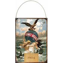 Cartel De Chapa Publicidad Antigua Fernet Branca 1904 L540