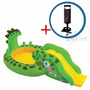 Playcenter Pileta Inflable Intex Gator Cocodrilo + Inflador