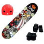 Skate Semi Profissional C/ Kit Proteção Bel Sports