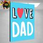 Feliz Dia Del Padre - Cuadros Personalizables - Regalo Único